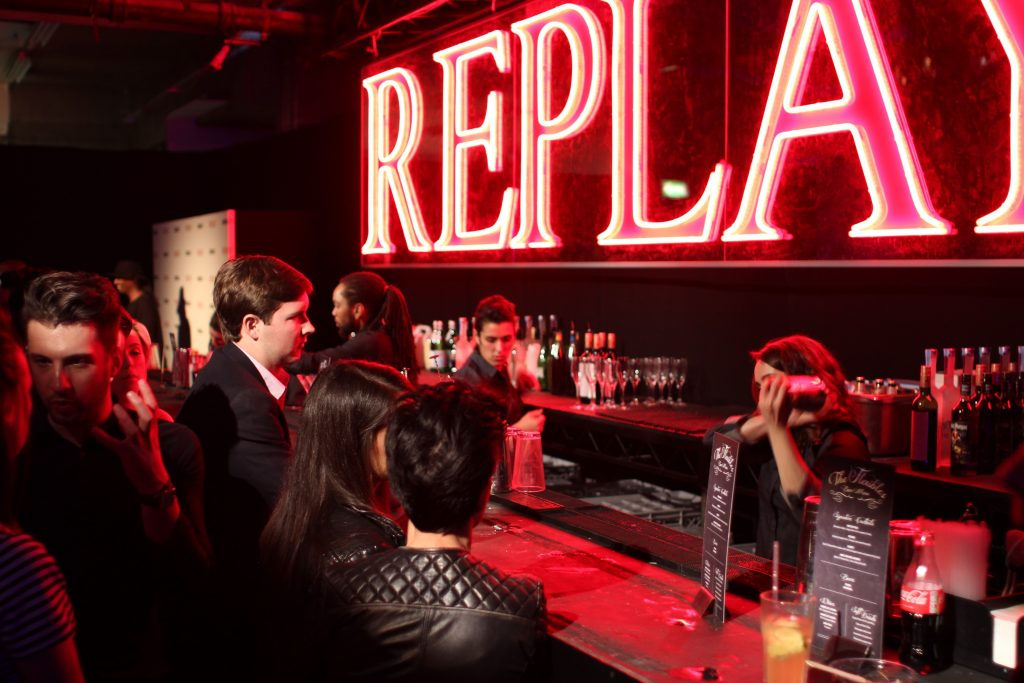 Mobile Cocktail Bar Replay Jeans London