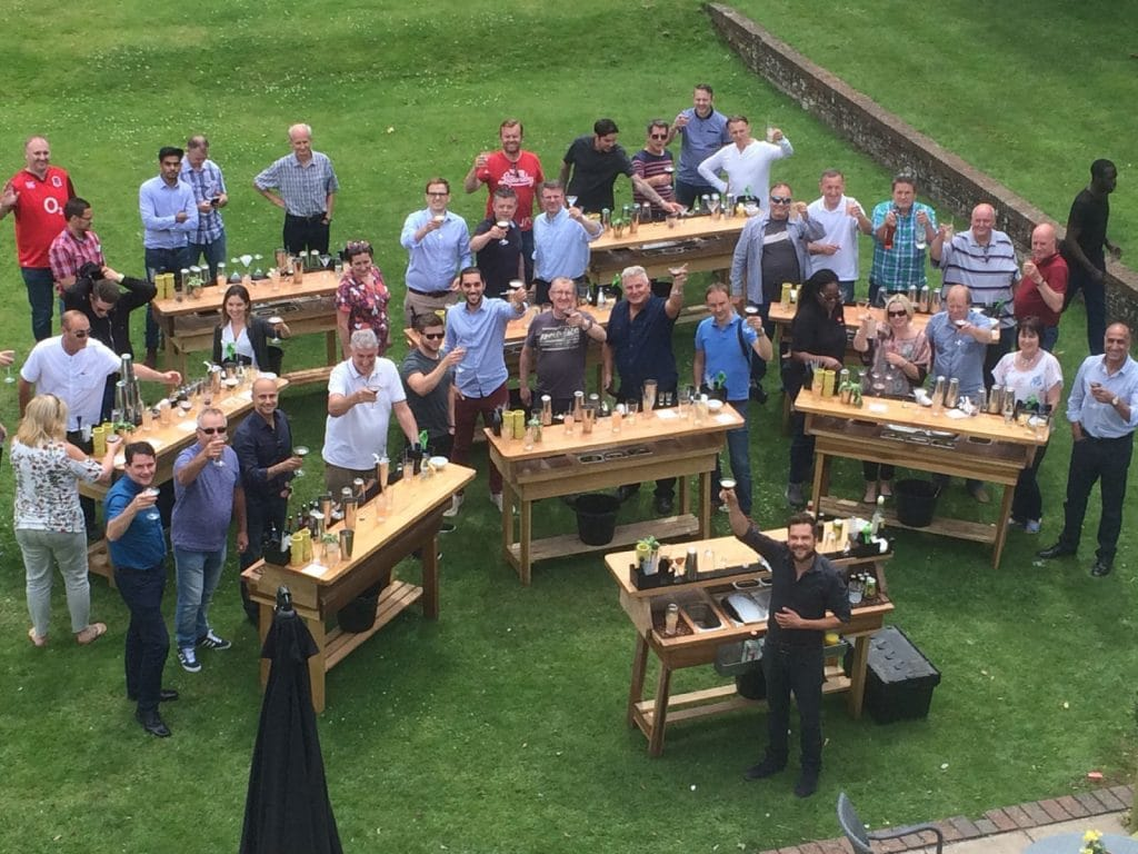 outdoor cocktail making classes essex
