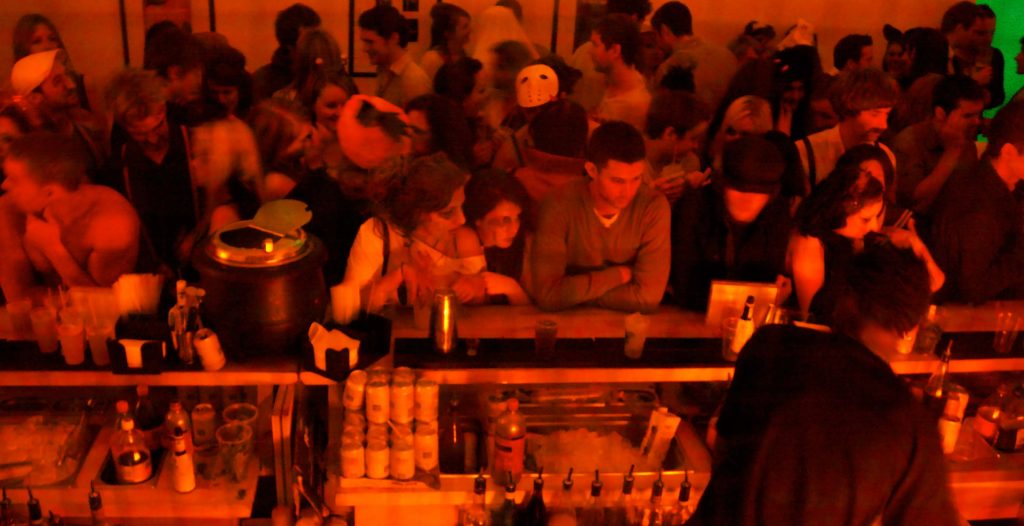 Mobile Cocktail Bar for a Shoreditch Hallowe'en Party