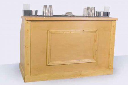 Mobile cocktail bar, wooden panelled bar