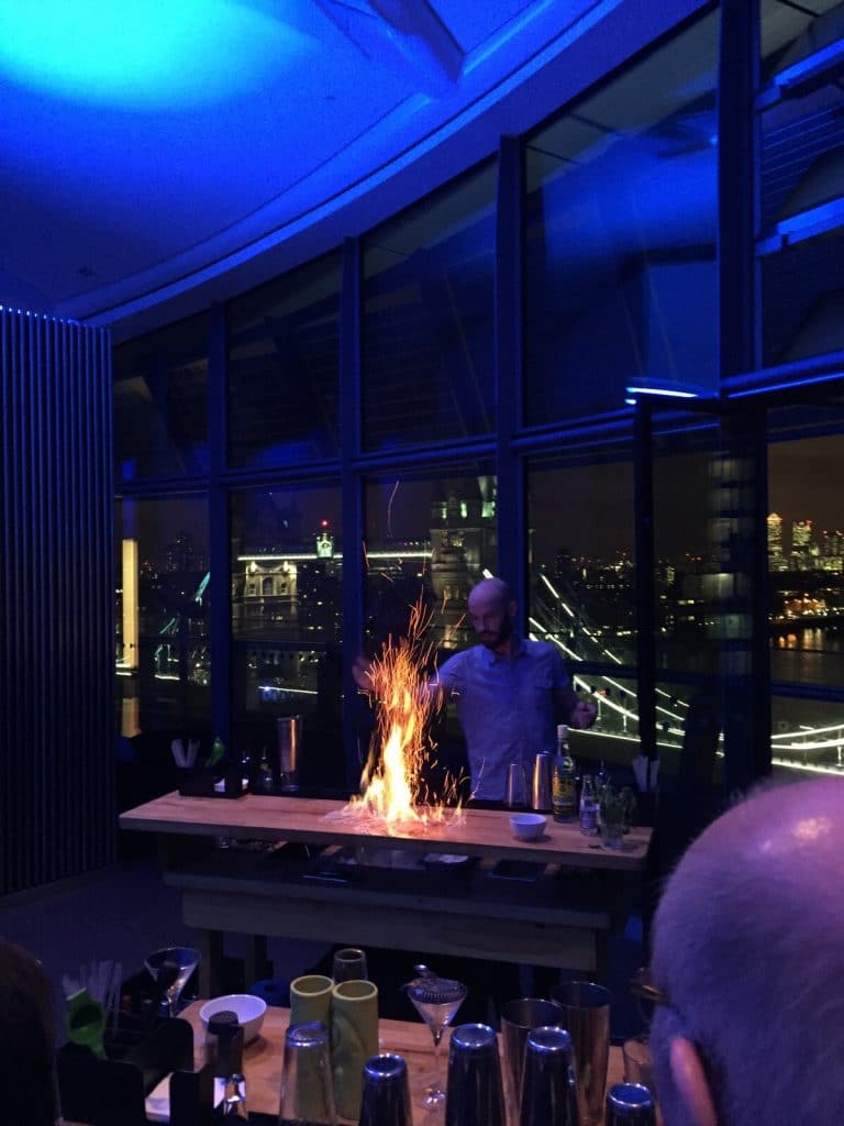 Mobile cocktail classes and cocktail bar hire at City Hall, London