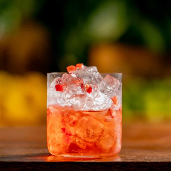 Non – Alcoholic Strawberry Negroni