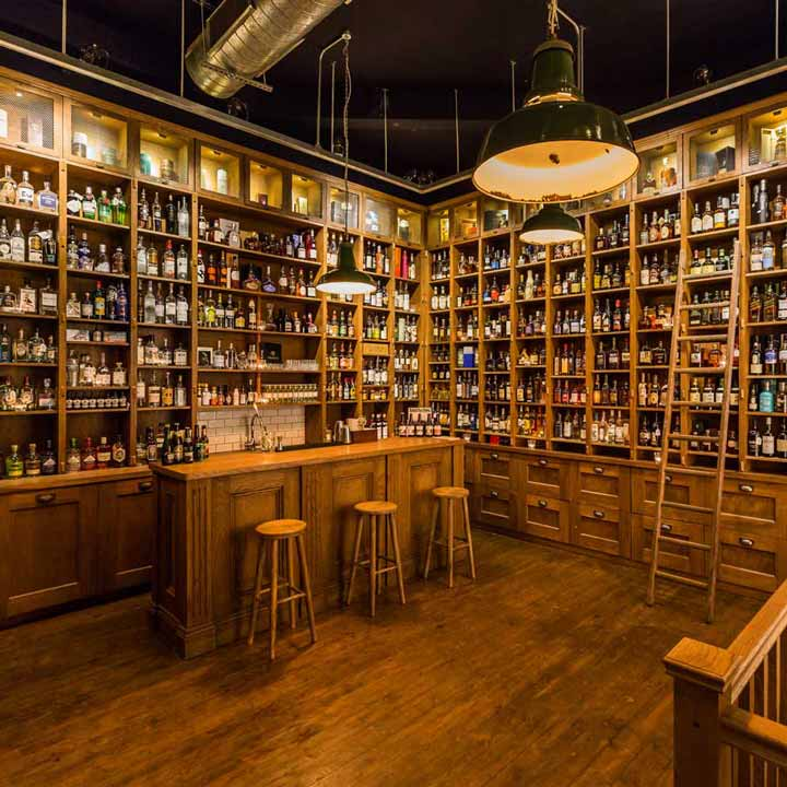 Picture of wood-panelled specialist liquor store from TT Liquor, Mixology Events flagship venue