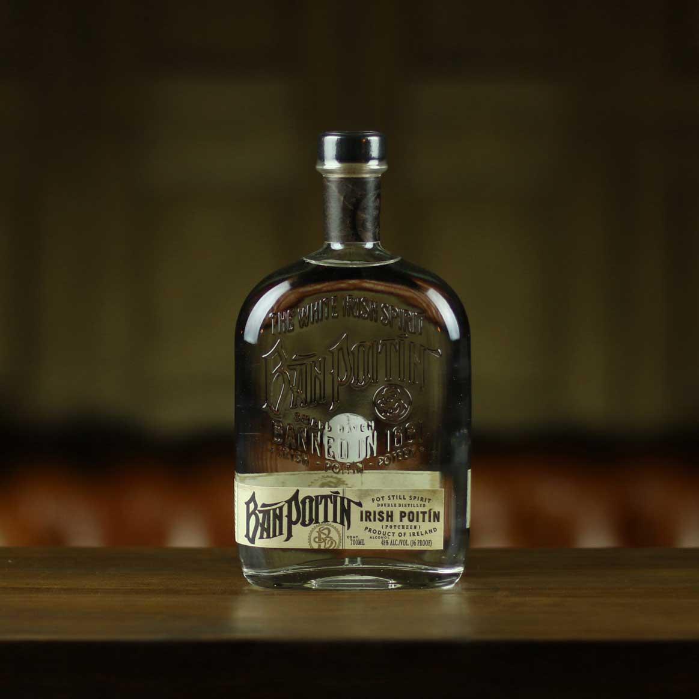 What is Poitin? Ban Poitin sitting on a bar top